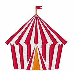 Red Stripe Tent embroidery design