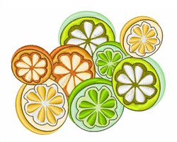 Mixed Citrus embroidery design