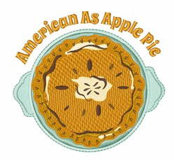 As Apple Pie embroidery design