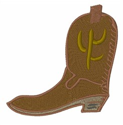Brown Cowboy Boot embroidery design
