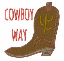 Cowboy Way embroidery design