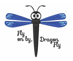 Fly On By embroidery design
