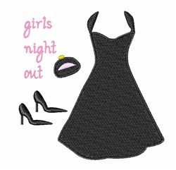 Girls Night Out embroidery design