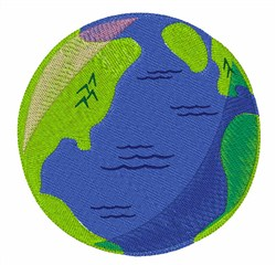 Modern Globe embroidery design