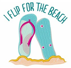 Flip for Beach embroidery design