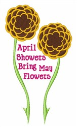 Showers Bring Flowers embroidery design