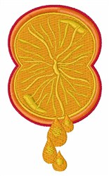 Orange Squeeze embroidery design
