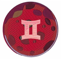 Gemini Symbol embroidery design