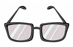 Black Rim Glasses embroidery design