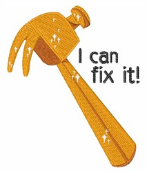 Can Fix It embroidery design