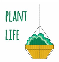 Plant Life embroidery design