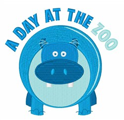 Day at  the Zoo embroidery design