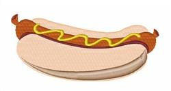 Hotdog with Mustard embroidery design