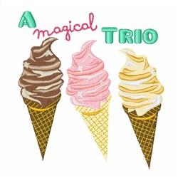 Magical Trio embroidery design