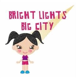 Big city Lights embroidery design
