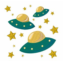 Flying Saucers embroidery design