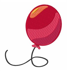 Red Balloon embroidery design