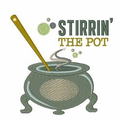 Stirrin the Pot embroidery design