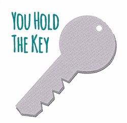 You Hold the Key embroidery design