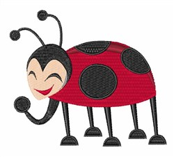 Laughing Ladybug embroidery design