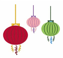 Hanging Lanterns embroidery design