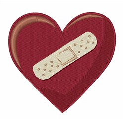 Bandaged Heart embroidery design