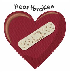 Heartbroken embroidery design