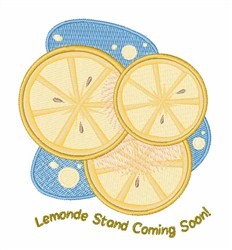 Lemon Stand embroidery design