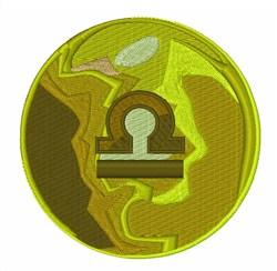 Libra Symbol embroidery design