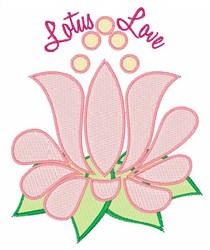 Lotus Love embroidery design