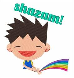 Shazam embroidery design
