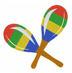 Colorful Maracas embroidery design