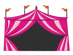 Pink Circus Tent embroidery design