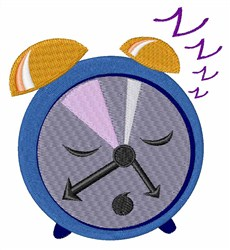Snoozing Clock embroidery design