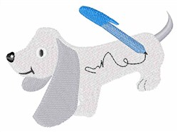 Autograph Dog embroidery design