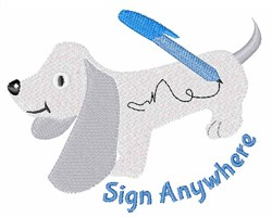 Sign Anywhee embroidery design
