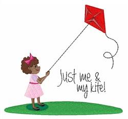 Me & My Kite embroidery design