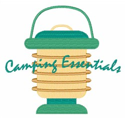 Camping Essentials embroidery design