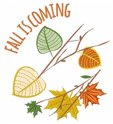 Fall Is Coming embroidery design
