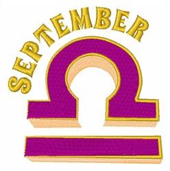 September embroidery design