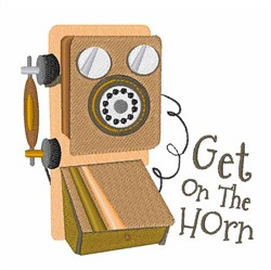 Get On The Horn embroidery design