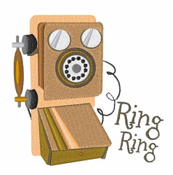 Ring Ring embroidery design