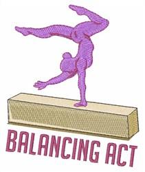 Balancing Act embroidery design