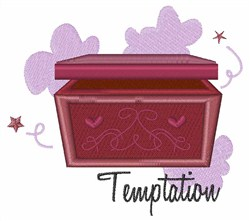 Temptation embroidery design