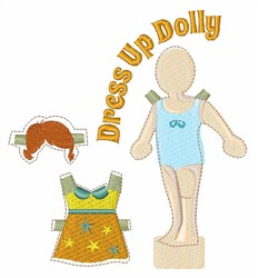 Dress Up Dolly embroidery design