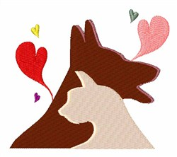 Dog & Cat embroidery design