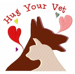 Hug Your Vet embroidery design