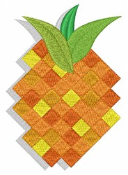 Abstract Pineapple embroidery design