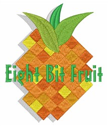 Eight Bit Fruit embroidery design