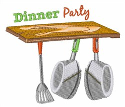 Dinner Party embroidery design